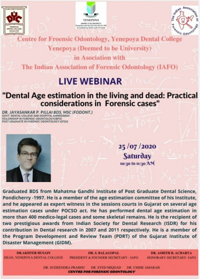 Dental Age Estimation In Living And Dead
