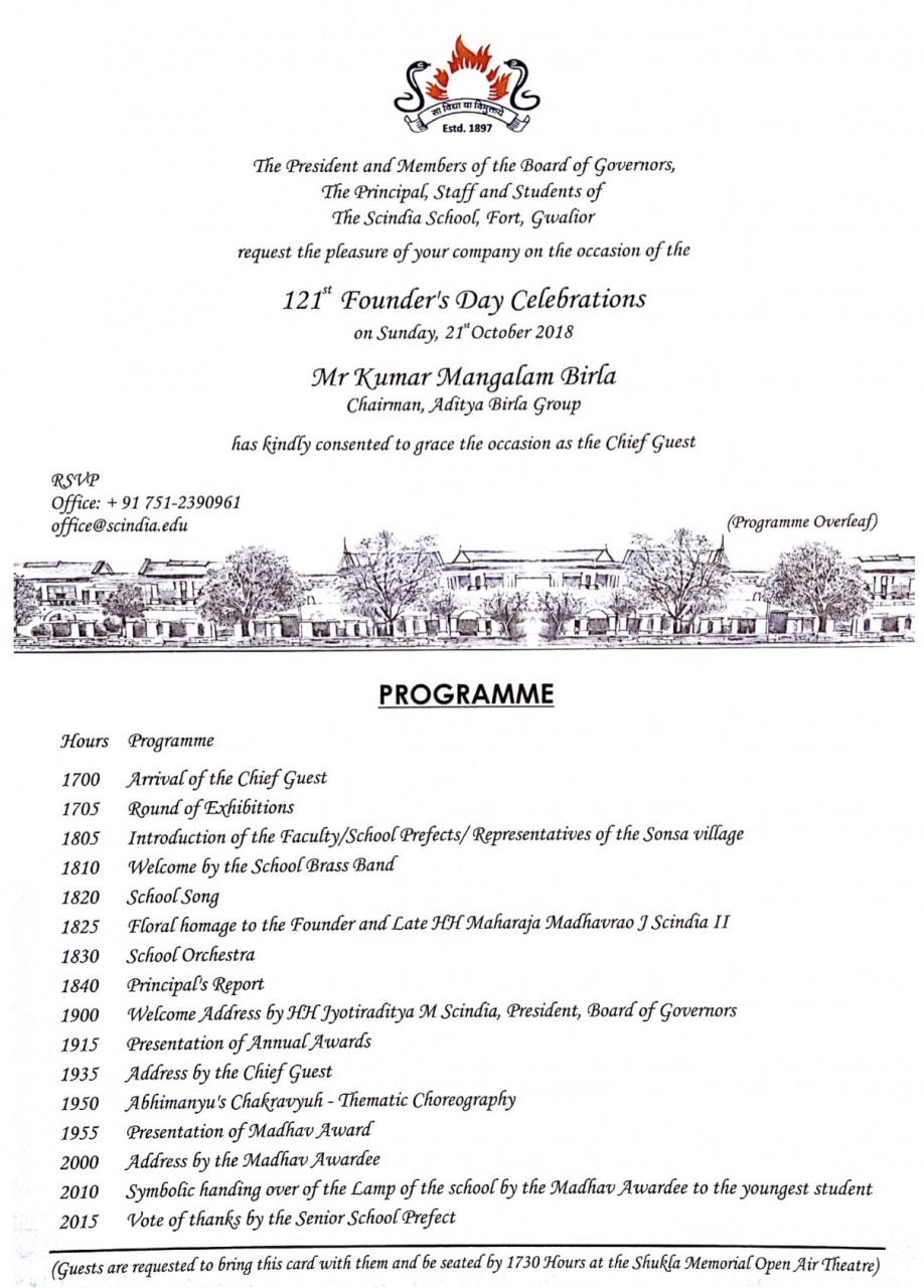 121st Founder's Day Celebrations
